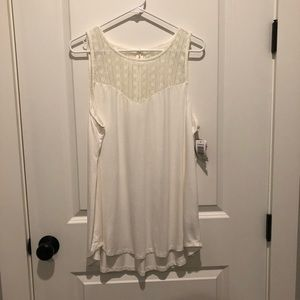 Torrid Super Soft Knits Ivory Lace Top Tank